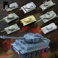 1:144 4D Assemble Tank Model Building Bricks WWII Military Army Battle Tank