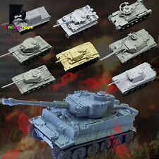 1:144 4D Assemble Tank Model Bricks WWII Military Army Battle Tank Collections
