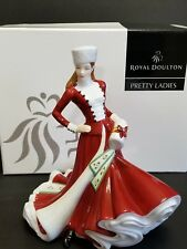 ROYAL DOULTON PRETTY LADIES COLLECTION CHRISTMAS DAY 2007 FIGURINE HN 4911 Box