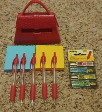 New Listinglot Of 9 Office Supply Pop Up Post It Note Purse Dispenser Note Refill Pens Flag