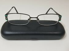 Genevieve Paris Design Eyeglasses Womens 52-18--135 Matte Brown/Turquoise Metal