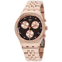 Swatch Irony Quartz Movement Brown Dial Ladies Watch YCG414G