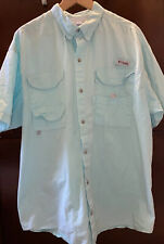 Columbia Pfg Vented Fishing Shirt Blue Mens Size Xl Pre Owned