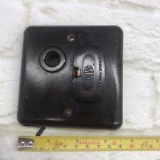 Vintage Bakelite MK Fuse Spur With Tv Aerial Socket Rare BROWN