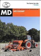 KUBOTA Drillmaschine MD 1000 MP  Prospekt