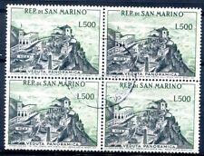San MARINO 1958 586 timbrato nel sistema di quattro € 280 (z2724