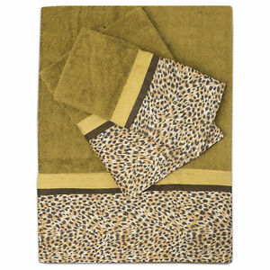 Bathroom 3 Piece Towel Set Popular Bath Wild Life