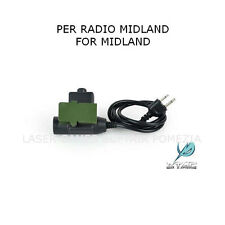 ADATTATORE PER CUFFIA PTT EL-Z113 COMPATIBILE RADIO MIDLAND  SOFTAIR E MILITARI