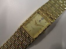 B36 NEW JB CHAMPION Gold Dress Stainless Steel Band WATCH Square VINTAGE Dress