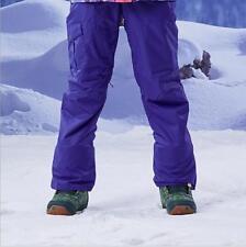 GSOU SNOW Women Double Board Warm Ski Pants Wear-resisting Waterproof Snow Pants