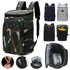 18L Thermos Insulated Cooling Backpack Picnic Camping Rucksack Ice Cooler Bag