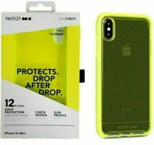 Tech21 Evo Check Case Cover for Apple iPhone XS Max Neon Yellow