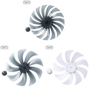 9/15 Leaves Fan Blade w/Nut Cover for Household Standing Pedestal Table Fanner