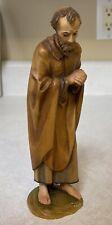 Vintage Mint Anri Karl Kuolt 6� Nativity Joseph Italian Hand Carved Figurine