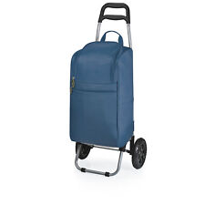 Picnic Time Rolling Cart Cooler, Navy (545-00-138)