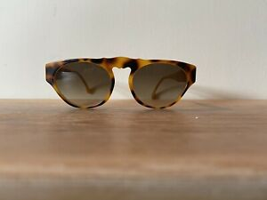 Karl Lagerfeld Vintage Sunglasses Tortoise Shell Geometric Brown Summer