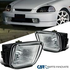 For 96-98 Honda Civic 2/3/4Dr Clear Bumper Fog Lights Driving Lamps Pair+Switch