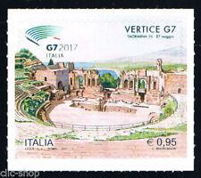 ITALIA 1 FRANCOBOLLO VERTICE G7 TAORMINA 2017 nuovo**