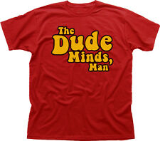 The Dude Big Lebowski funny movie bowling red cotton t-shirt 9922