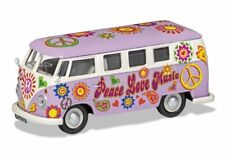VW T1 Bus 'Peace Love Music' Diecast Model