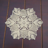 4Pcs/Lot Vintage Cotton Hand Crochet Lace Doilies Table Mats Placemats 22cm