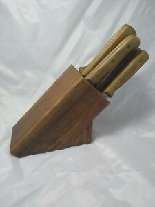 Vintage Chicago Cutlery Knife Block And Knife Set