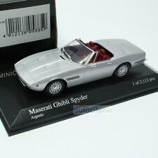 Maserati Ghibli Spider 1969 Silver Minichamps 1 43