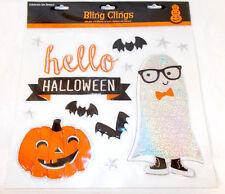 Shopko Hello Halloween Ghosts Jack-o-lanterns Bling Clings Cling Window Mirror