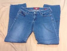 Women's Lucky Brand Lola Boot Denim Blue Jeans Size 6 / 28 Low Rise (J-186)