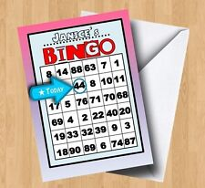 Personalised Bingo Birthday Card