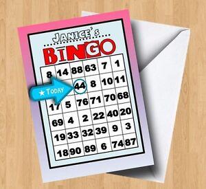 Personalised Bingo Birthday Card