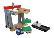 Container Terminal Holz Spielzeug Hafen Eisenbahn Zubehör Schiff LKW Pier