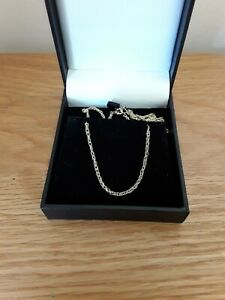 """VINTAGE 9ct GOLD CHAIN, PRINCE OF WALES/TWIST/ROPE DESIGN, 20.5"""" H/MARKED 2.5 gm"""