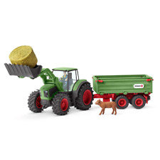Schleich Farm World Tractor with Trailer Playset