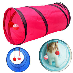 Foldable Cat Tunnel Outdoor Tunnel Cave Kitten Puppy Exercise Play toys UK