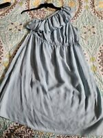 Women's Old Navy Light Blue Chambray Ruffle Dress Size Large NWT