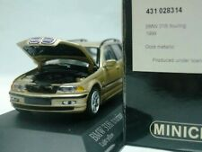 WOW EXTREMELY RARE BMW E46 318i Touring 2.0 16V 1999 Gold 1:43 Minichamps-GTR/M3