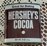 Vintage Hershey's® Cocoa Metal 8-oz Tin w/Lid ~ Classic Hershey's® Design ~ 1
