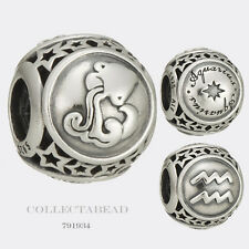 Authentic Pandora Sterling Silver Zodiac Aquarius Star Sign Charm Bead 791934