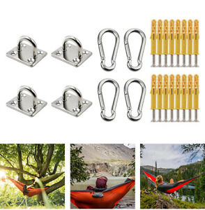 Swing Yoga Ceiling Anchor Wall Mount Hanging Hook Snap Clip Mounting Screws