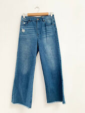Designer Sass & Bide Size 27 Blue Denim Wide Leg High Waisted Women's Jeans