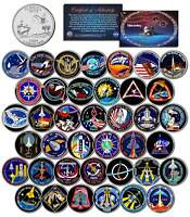 SPACE SHUTTLE DISCOVERY MISSIONS Colorized Florida Quarters US 39-Coin Set NASA