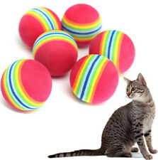 Colorful Pet Cat Kitten Soft Foam Rainbow Play Balls Activity Toys ~2PCs~