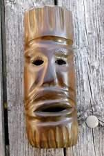 hölzerne Maske aus Afrika - handgeschnitzt - 37 cm hoch