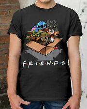 Baby Yoda FRIENDS Cartoon Comics Groot Stitch Toothless Grizm T-Shirt Size S-5XL