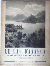 livre Le lac d'Annecy1948 photographies de Jean roubier coll charme de la France