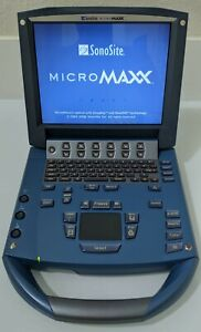 SONOSITE MICROMAXX 2007 CW DOPPLER W/ 1- HFL38e LINEAR PROBE PORTABLE ULTRASOUND