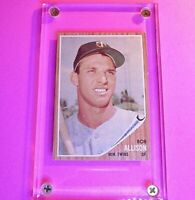 1962 Topps #180 Bob Allison Twins, rare Green Tint NrMt NM Sharp!