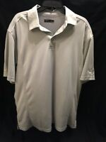 Men's Callaway Top Golf Dri-Fit Golf Polo Shirt  Light Gray Size Large S/S EUC