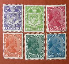 Liechtenstein Stamps 1917-1919 Arms and Prince Johann II Mint Light Hinge